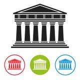 Bank, Courthouse, Parthenon Architecture Icon Royalty Free Stock Photo