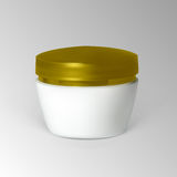 Bank cream with gold cap Royalty Free Stock Photo