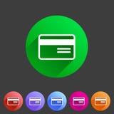 Bank credit card flat icon Royalty Free Stock Photo