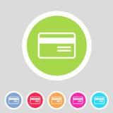 Bank credit card flat icon Royalty Free Stock Photos