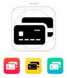 Bank credit cards icon. Vector illustration Stock Image