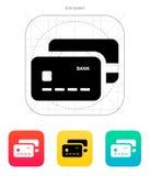 Bank credit cards icon. Vector illustration Stock Illustration