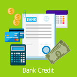 Bank Credit Concept Design Style Stock Photography