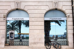 Bank in Croatia stock photos