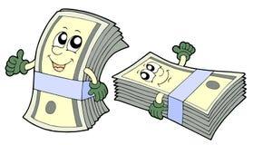 Bank of cute banknotes stock illustration