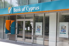 Bank of Cyprus branch Royalty Free Stock Photography