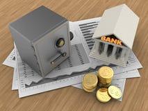 Bank 3d Stockbilder