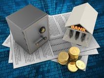 Bank 3d Stockbild