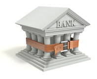 Bank 3d icon with tighten belt Stock Images