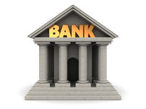Bank. 3d illustration of bank building with columns Stock Image