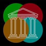 Bank de bouwpictogram - overheidsillustratie stock illustratie