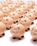 bank deponować pieniądze prosiątka biznesowego oszczędzanie Obrazy Royalty Free