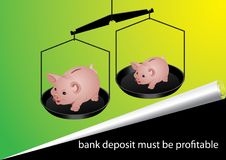 Bank deposit Royalty Free Stock Images