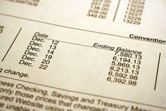 Bank Deposit. Statement of earnings royalty free stock photography