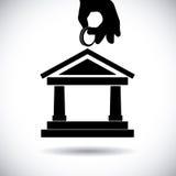 Bank design. Bank graphic design , vector illustration Stock Image