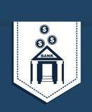 Bank design. Over  blue background, vector illustration Royalty Free Stock Photo