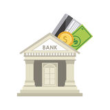 Bank design Stock Images