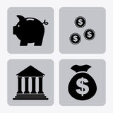 Bank design. Over white  background, vector illustration Royalty Free Stock Photos