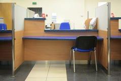 Bank desk stock images