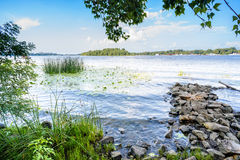 Bank of the Dnieper River Royalty Free Stock Image