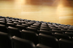 Bank of empty seats in an auditorium Royalty Free Stock Photography