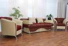 Bank en twee stoelen Royalty-vrije Stock Foto's