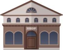 Bank en Winkel op het Vierkant van Londen, het Verenigd Koninkrijk Vector geïsoleerde illustratie Royalty-vrije Stock Foto