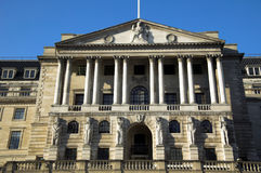 Bank Of England. The Bank Of England fondly known as 'The Old Lady Of Threadneadle Street' is where Britains gold reserves are kept and is responsible for Royalty Free Stock Photos