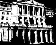 Bank of England. An image of the royal Bank of England shown as a line drawing
