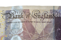 Bank of England banknote Royalty Free Stock Image