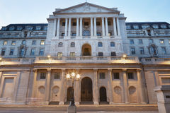 Bank of England facade in London in the evening Stock Image