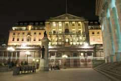 Bank of England, London. Bank of England at twilight royalty free stock image