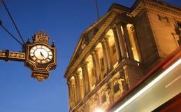 Bank of England, London. Bank of England at twilight stock photo