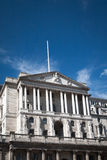 The Bank of England, London. Low angle view looking up at the front of the Bank of England, London Stock Photography
