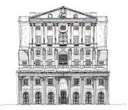 Bank of England London, Sketch Stock Photos