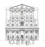 Bank of England London, Sketch collection Stock Photos