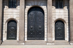 Bank of England main doors and entrance Stock Photography