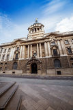 Bank of England main doors and entrance Royalty Free Stock Images