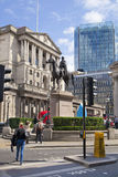 Bank of England. Square and underground station Stock Photo