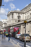 Bank of England. Square and underground station Royalty Free Stock Photography