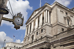 Bank of England. Square and underground station Stock Photography