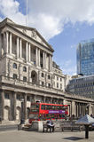 Bank of England. Square and underground station Royalty Free Stock Photo