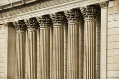 The Bank of England stone pillars Stock Images