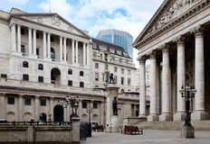Bank of England on Threadneedle Street, London, UK Royalty Free Stock Images