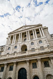 The Bank of England, wide angle view, City of London, UK royalty free stock image