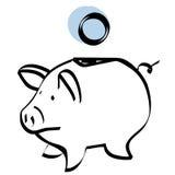 bank eps file piggy vector Fotografering för Bildbyråer