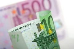 bank euro notes Στοκ Φωτογραφίες