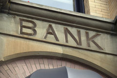 Bank Facade Royalty Free Stock Images