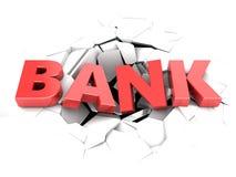 Bank failure Stock Image