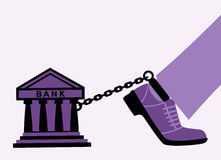 Bank fetters. Bank may arrest a person for a large debt Stock Photography